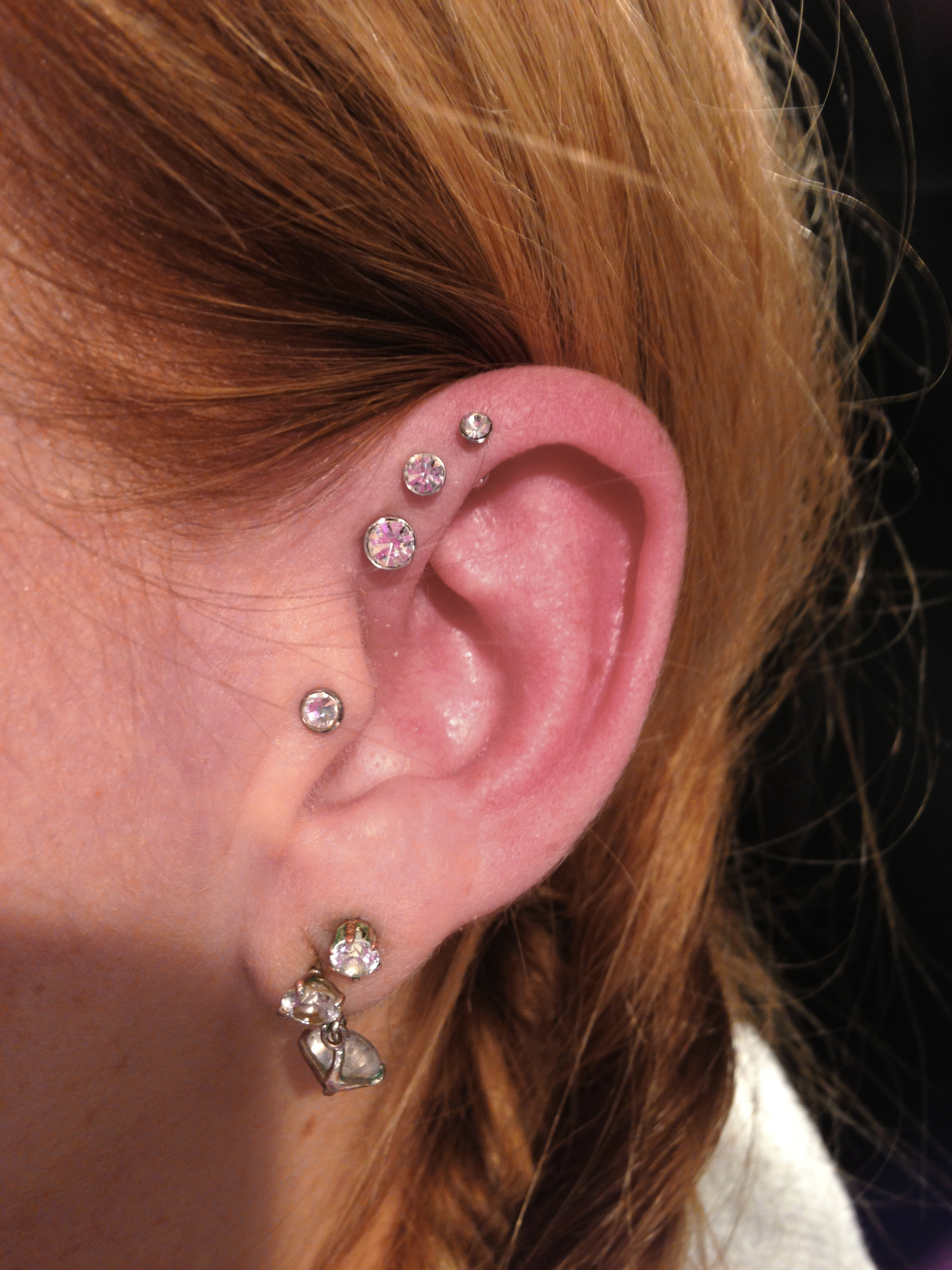 Piercing; Helix; Forward Helix