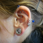Piercing; Ohr; Helix;